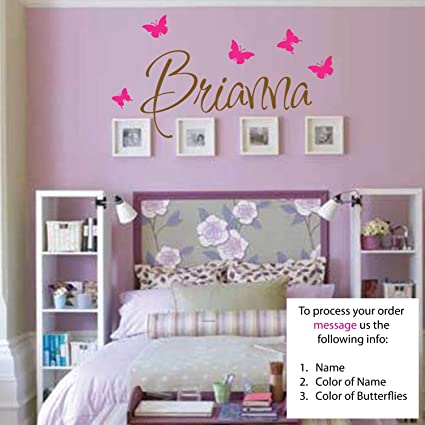 Amazoncom Newsee Decals Brianna Wall Decal Girls Room - Custom vinyl stickers for girls