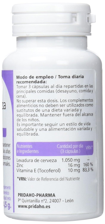 SANON Levadura de Cerveza con Zinc 100 cápsulas de 545 mg: Amazon.es: Salud y cuidado personal