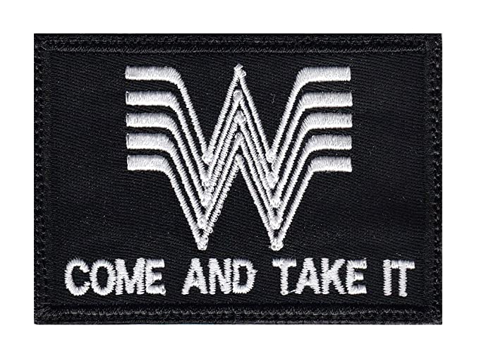 Amazon Whataburger Come And Take It Iron On Glue Backing Patch