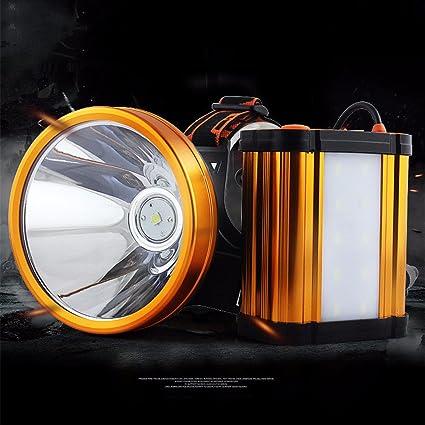OOFAY Headlamp@ LED Stirnlampe Wiederaufladbare Super Helle Kopflampe Helle Lichter Wasserdichter Stirnlampe 3 Helligkeits-Modi Perfekt Zum Campen Zum Wandern//Gro/ße Kapazit/ät Batterie