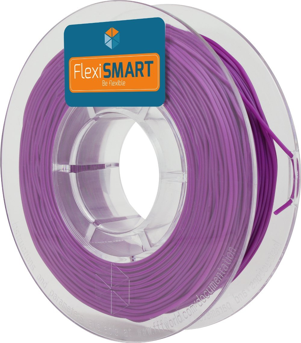 FlexiSMART Blueberry 250 g. Filamento Flexible TPU 1.75mm para Impresora 3D - Flexible Filament for 3D Printing - TPE Filament, TPU Filament, Elastic ...