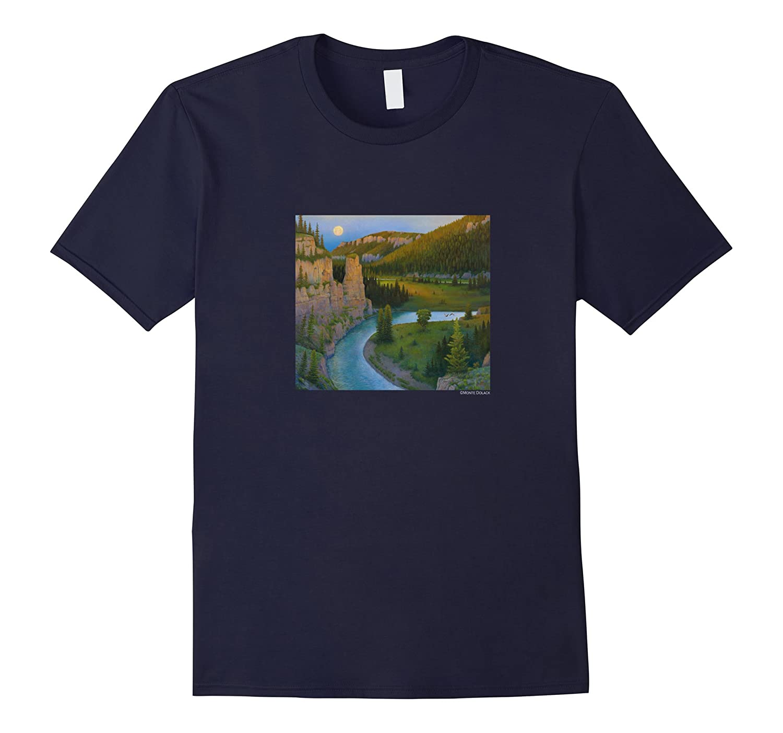 Monte Dolack Smith River T-shirt Montana-Art
