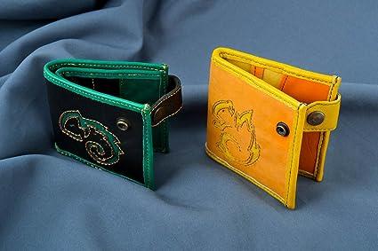 Carteras de mujer hechas a mano vistosas accesorios de cuero regalos originales
