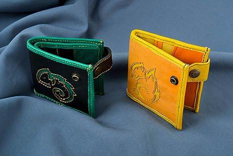 Carteras de mujer hechas a mano vistosas accesorios de cuero ...
