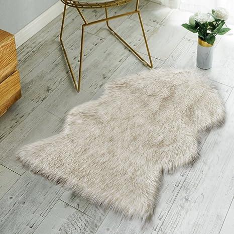 Amazoncom Nordmiex Faux Fur Sheepskin Rug Deluxe Soft Faux