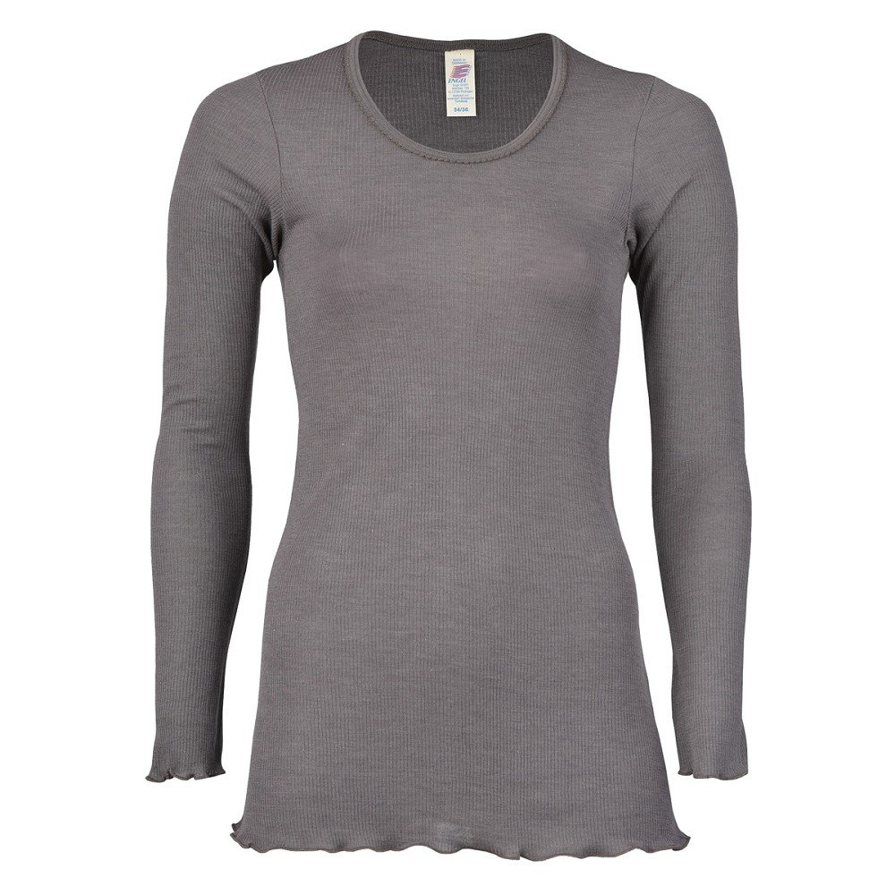 Ángel, Long Camiseta Natural de Lana y Seda