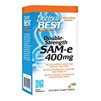 Doctor's Best SAM-e 400 mg, Vegan, Gluten Free, Soy Free, Mood and Joint Support...