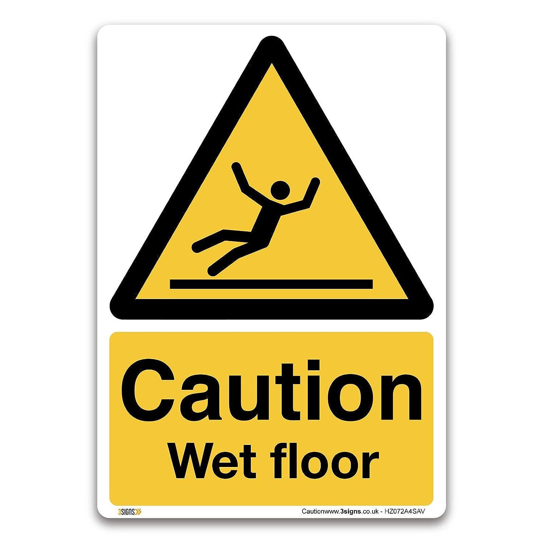 3 Signs Señal de advertencia sobre el suelo mojado - vinilo ...