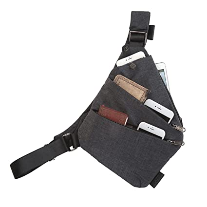 519094c9afe8 FALETO Anti-Thief Sling Bag Chest Hidden Security Bag Underarm Shoulder  Armpit Bag Holster Portable Backpack for Phone/Money/Passport Bag ...