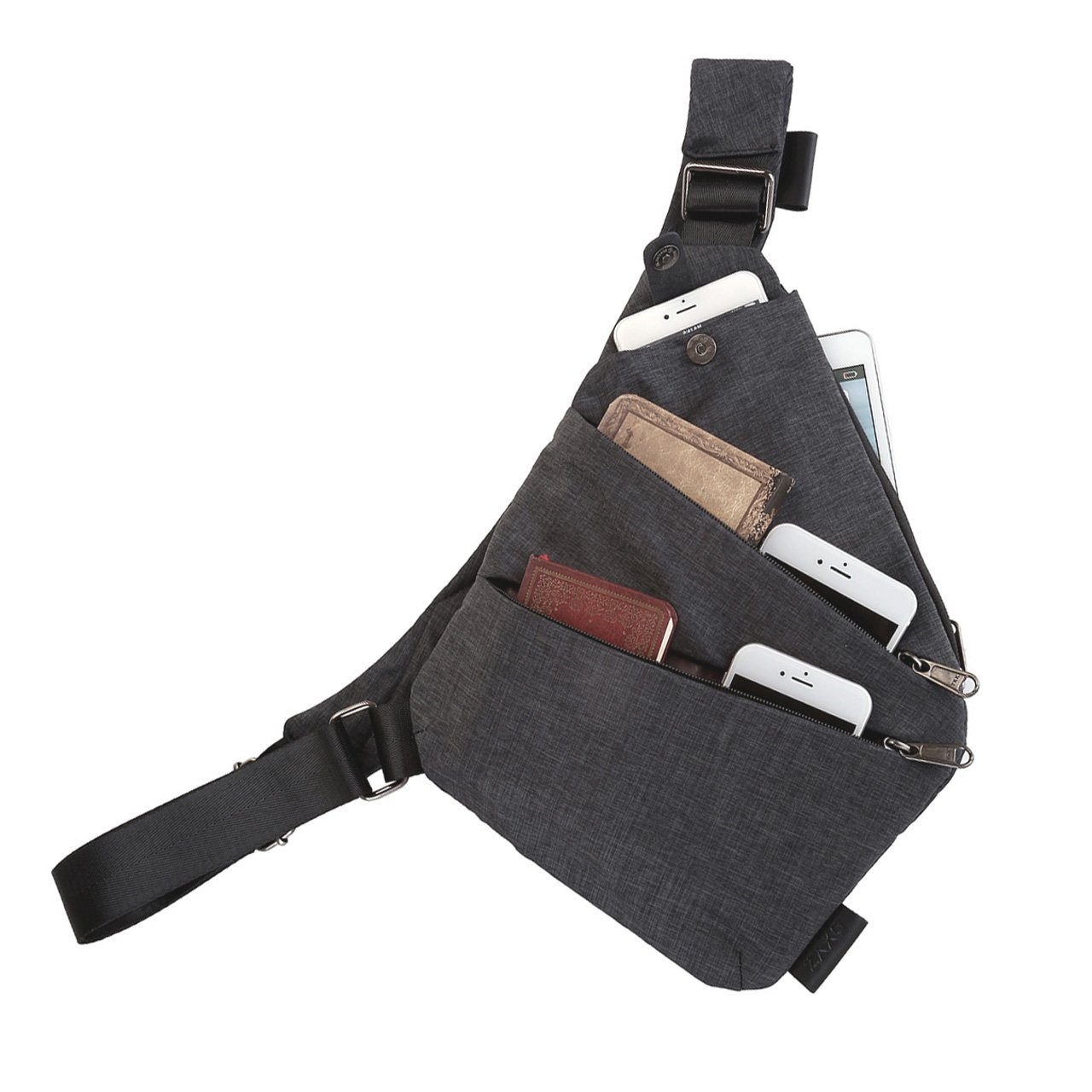 FALETO Anti-Thief Sling Bag Chest Hidden Security Crossbody Shoulder Backpack