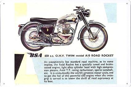 Amazon.com: BSA A10 Road Rocket motocicleta 7.8