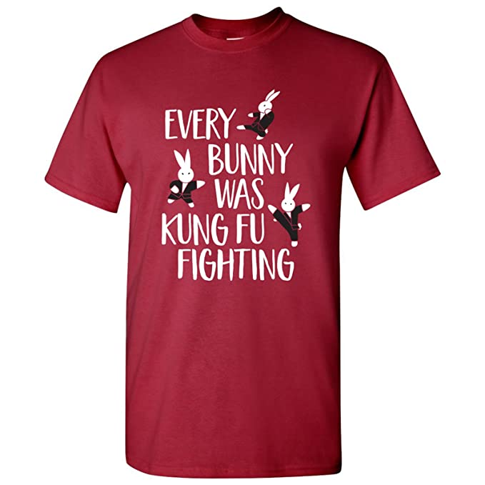 ba219ac0e Every Bunny was Kung Fu Fighting Basic Cotton T-Shirt - Small - Cardinal