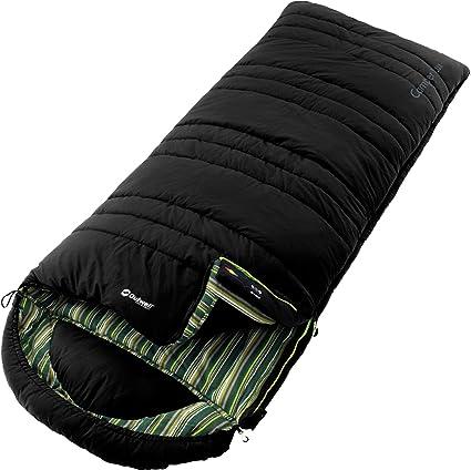 Outwell Schlafsack Camper - Saco de Dormir Momia para Acampada, Color Negro, Talla 235