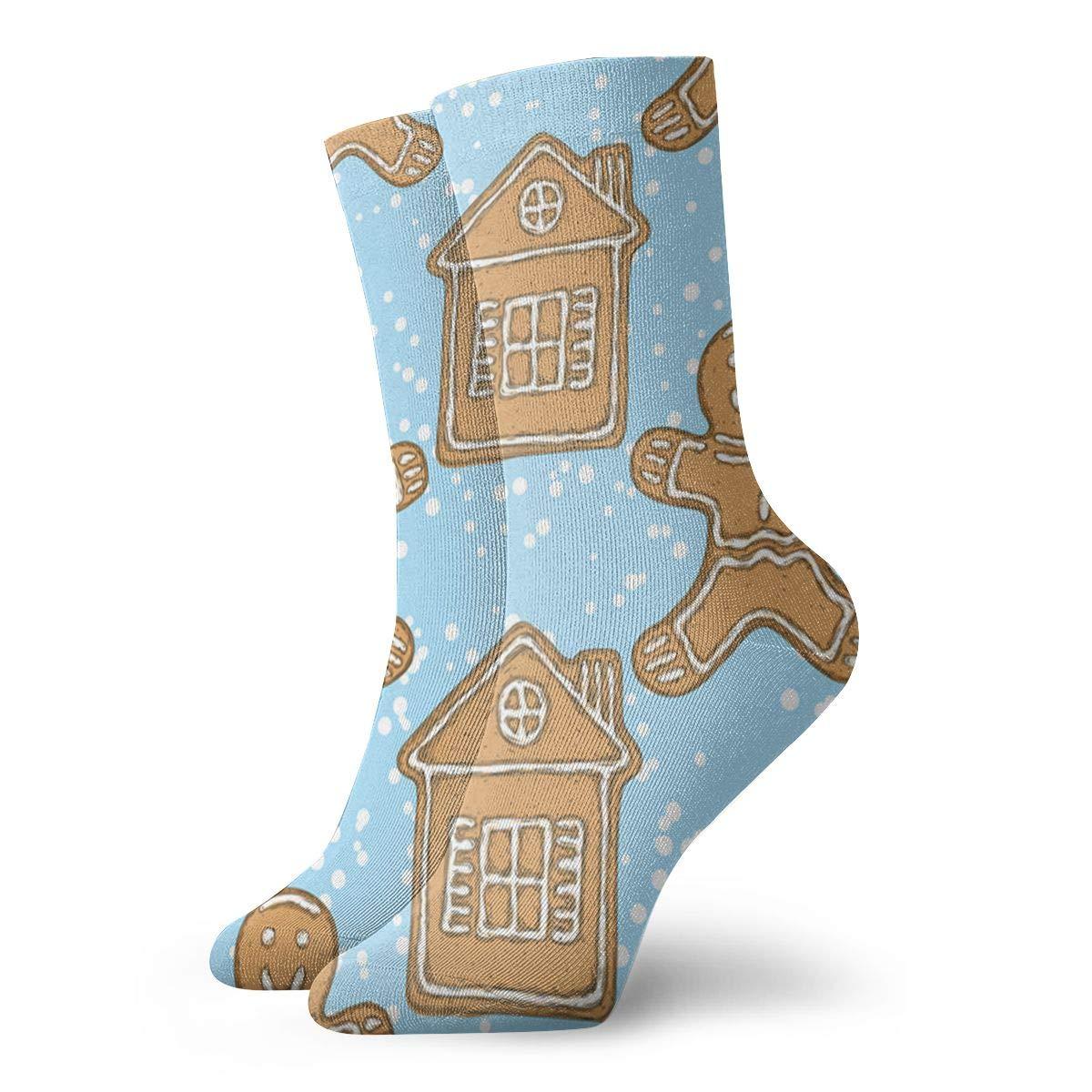 Seamless-gingerbread-man Unisex Funny Casual Crew Socks Athletic Socks For Boys Girls Kids Teenagers