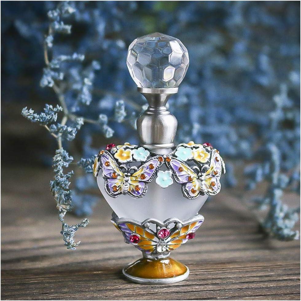YUFENG - Botellas de Perfume vacías rellenables con diseño de Mariposas