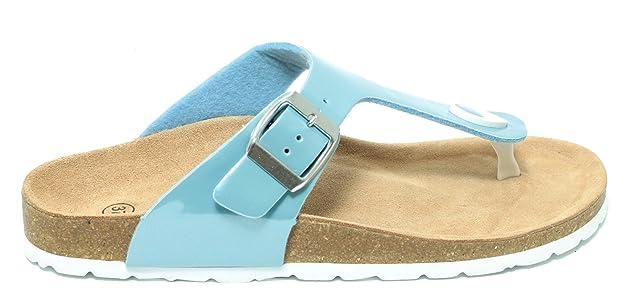 Damen Bio Clogs Pantolette Sandale Slipper Zehentrenner Tieffußbett PASTELL  BLAU Gr. 37  ototo Spielraum Niedrigen Preis Versandgebühr ... f61e09c75a
