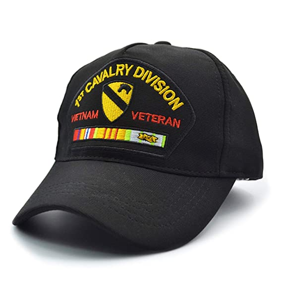 MEGE 1st Cavalry Division Army Cap for Fishing, Sombrero Gorra de Pesca, Outdoor Sports Jogging Hat, Adjustable at Amazon Womens Clothing store:
