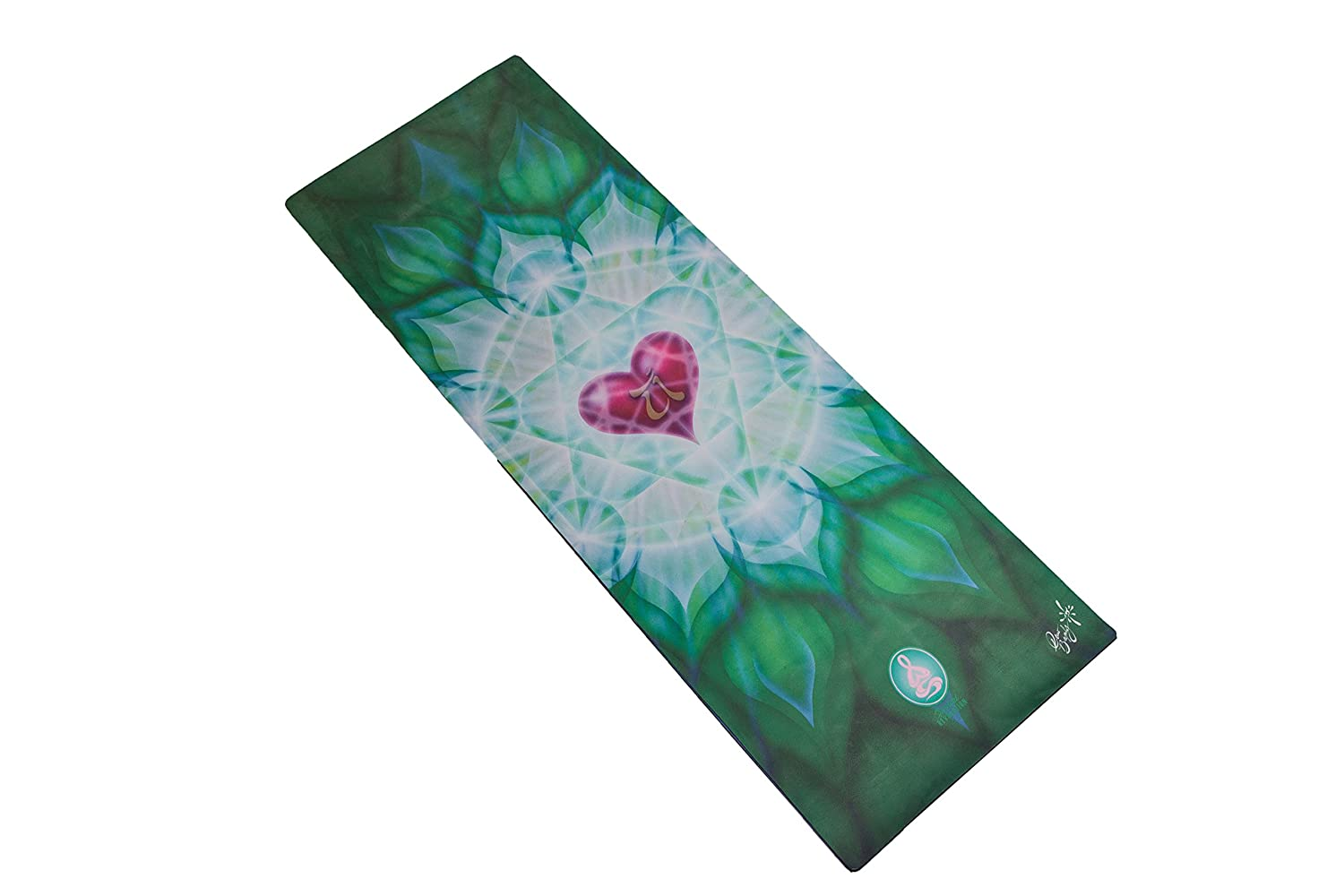 Spiritual Revolution Yoga Combo Mat – Luxury Mat and Towel That Grips While You Sweat. No Slip, PVC Free, and Machine Washable.