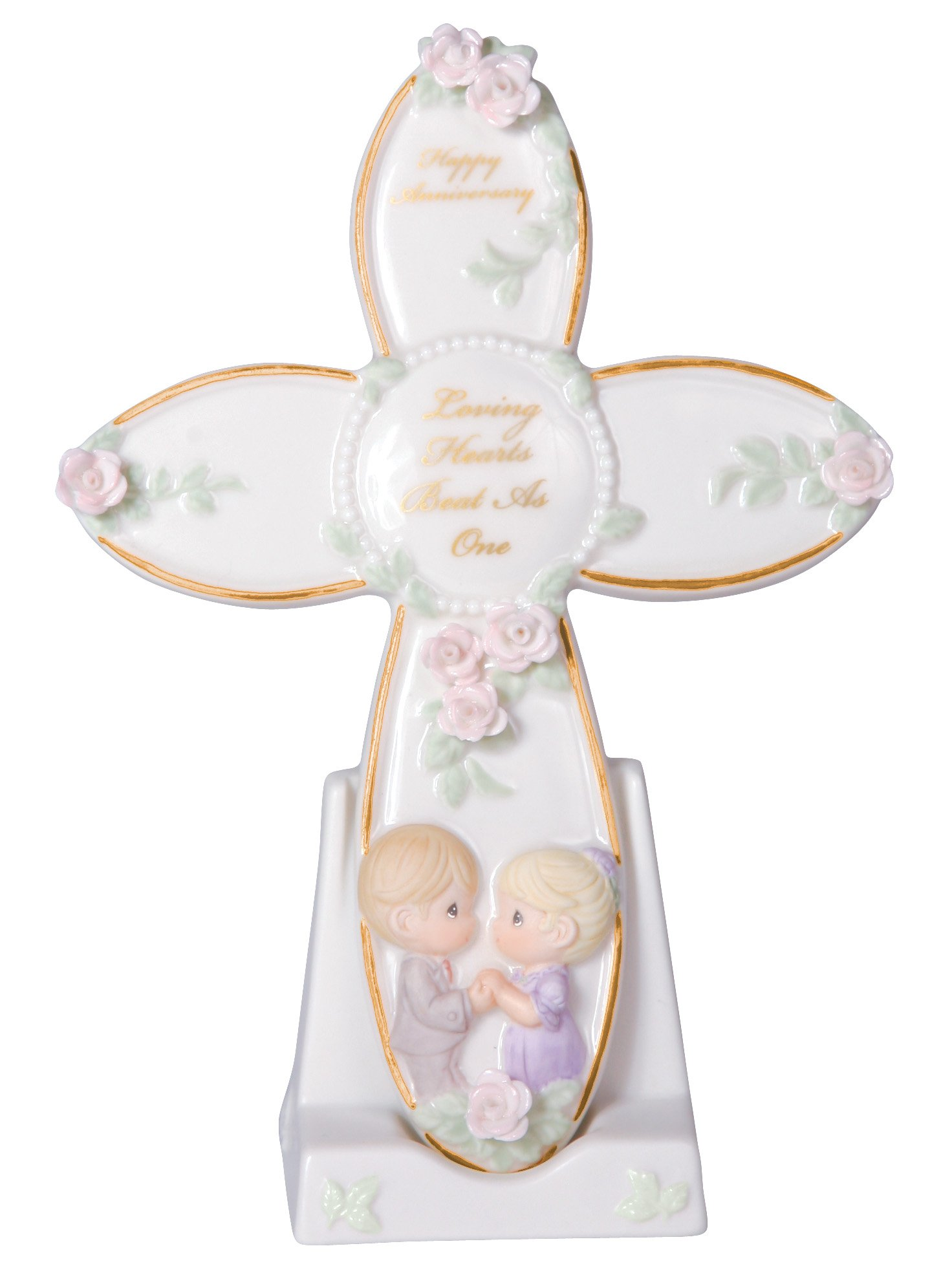 Precious Moments General Anniversary Porcelain Cross With Stand