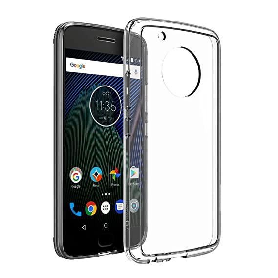 premium selection 311cd 8b14a Kapaver Hybrid PC + TPU Clear Transparent Back Cover Case for Moto G5 Plus  (5.2