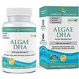 Nordic Naturals Algae DHA - 500 mg Omega-3 DHA - 60 Soft Gels - Certified Vegan Algae Oil - Plant-Based DHA - Brain, Eye…