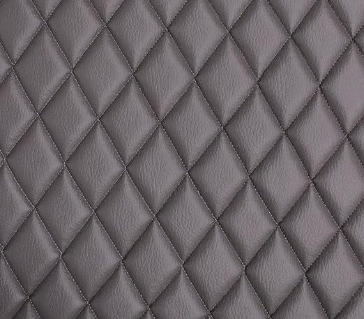 Amazon Com Vinyl Grain Texture Quilted Foam Gray Fabric 2 X 3