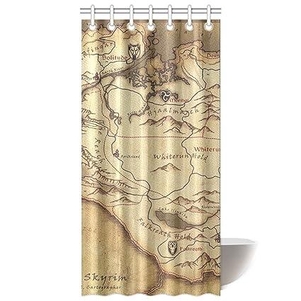 Amazon CTIGERS The Elder Scrolls Shower Curtain Province Skyrim