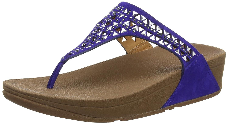 FitFlop Damen Carmel Toe-Post Sandalen  36 EU|Blau (Mazarine Blue)