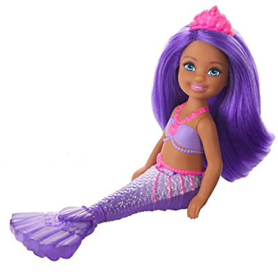Barbie Dreamtopia Chelsea Mermaid Doll, 6.5-inch with Purple Hair and Tail, Multicolor: Toys & Games