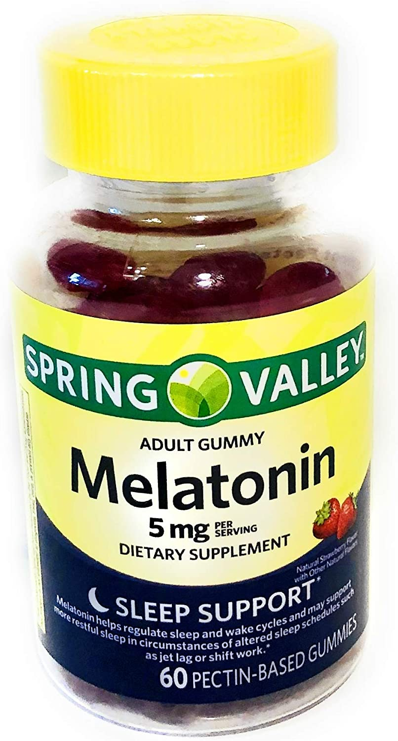 Spring Valley Adult Gummy Melatonin 5 mg.