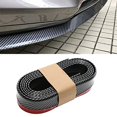 CICMOD 98''/2.5M Universal Front Bumper Spoiler Rubber Skirt Protector Lip for Cars Trucks SUV Black+Red: Automotive