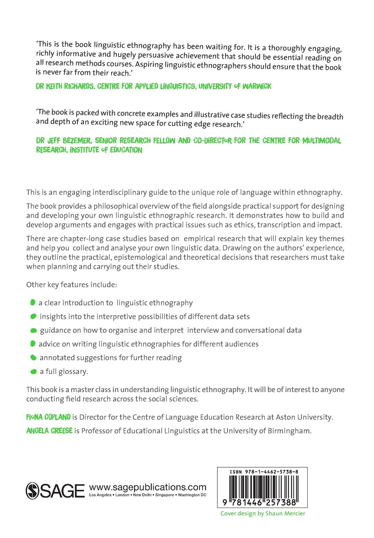 Linguistic Ethnography Amazon Fiona Copland Angela Creese