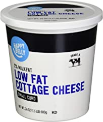 Amazon Brand - Happy Belly 2% Cottage Cheese, Small Curd, Kosher, 24 Ounce