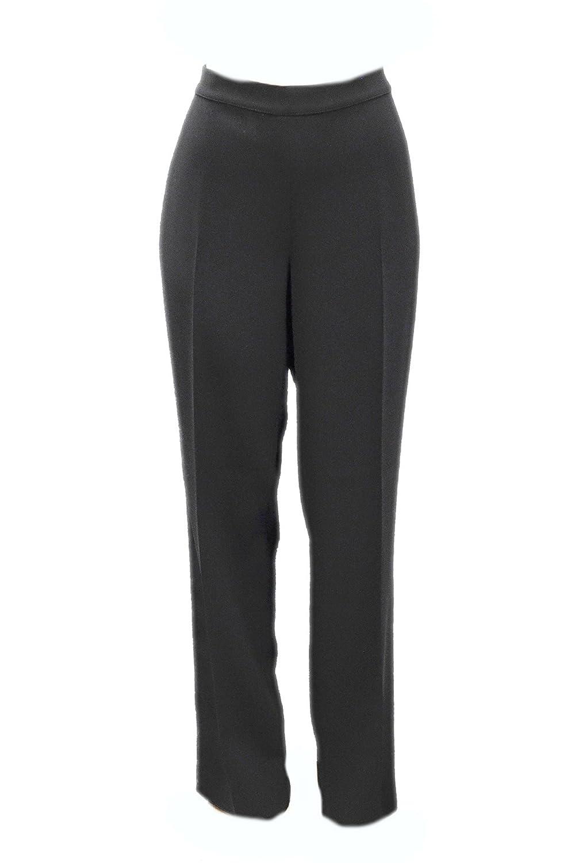 MARINA RINALDI Womens Tuxedo Side Taping Detail Dress Pants Sz 12 Black 120285MM
