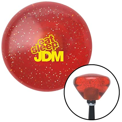 American Shifter 295816 Shift Knob Red FCK It Icon Clear Flame Metal Flake with M16 x 1.5 Insert