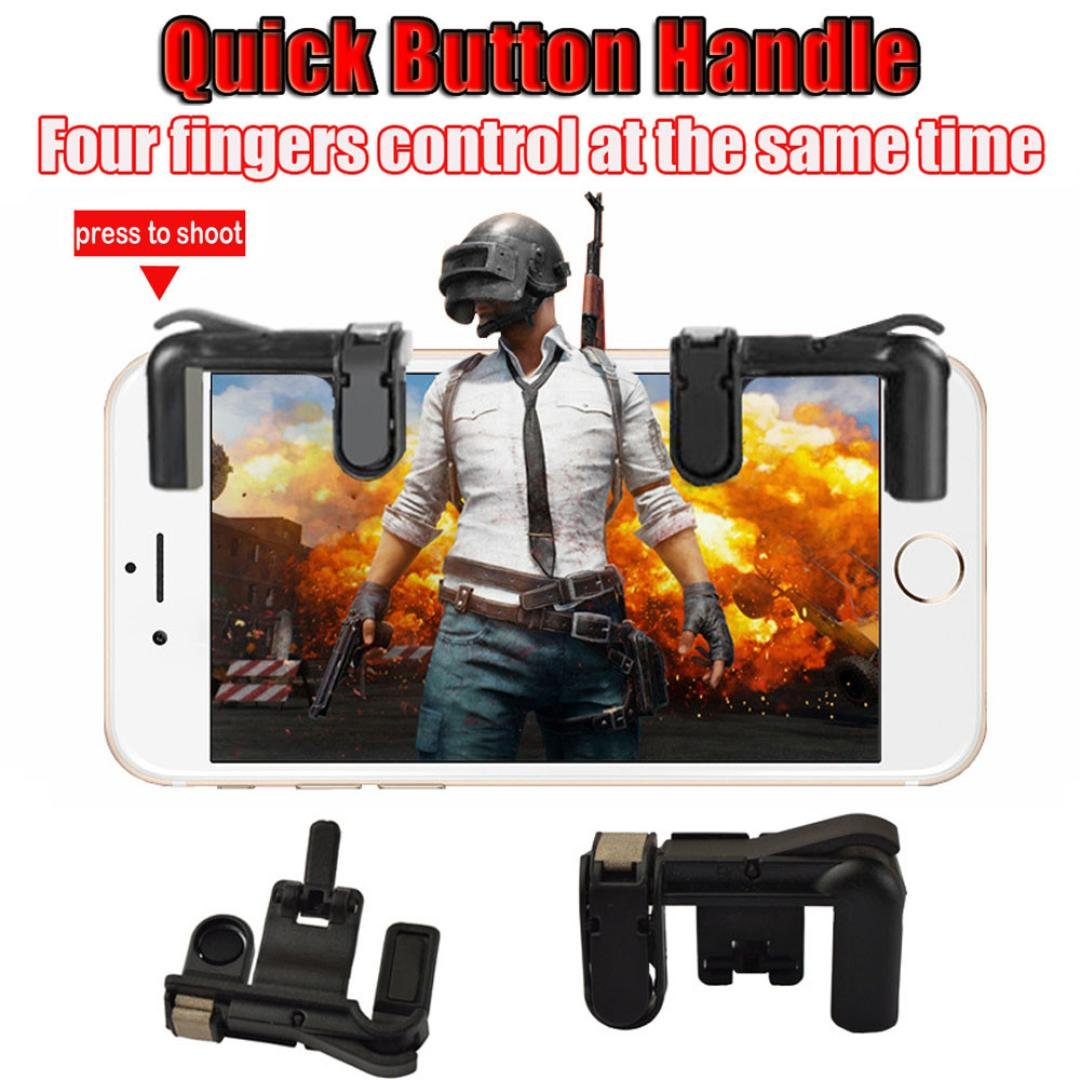 Gaming Trigger for Phone Mobile,Diadia Phone Mobile Gaming Trigger Fire Button Handle for L1R1 Shooter Controller PUBG,Left+Right
