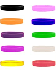 Silicone Wristbands Pack of 10, Selection of Colours Available