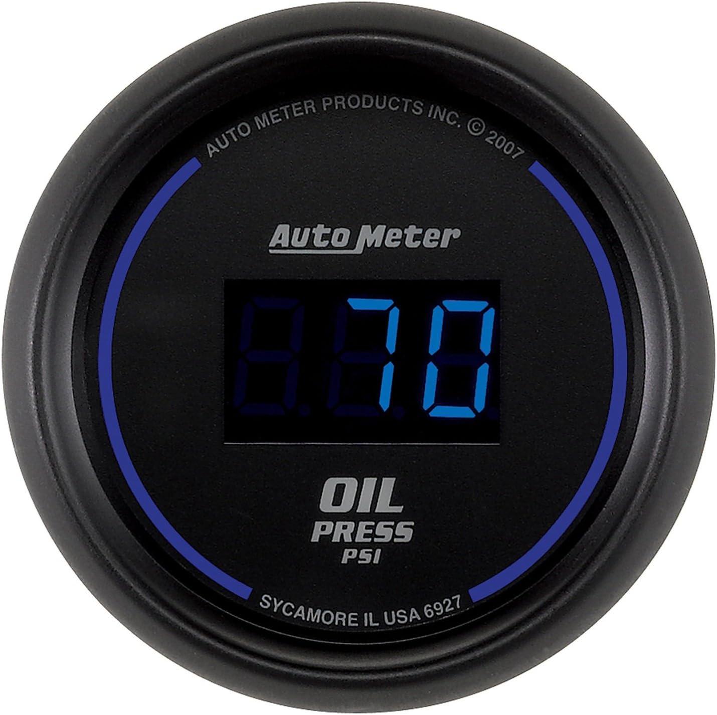 Autometer Cobalt Digital 52.4mm Black 0-100psi Oil Pressure Gauge am6927