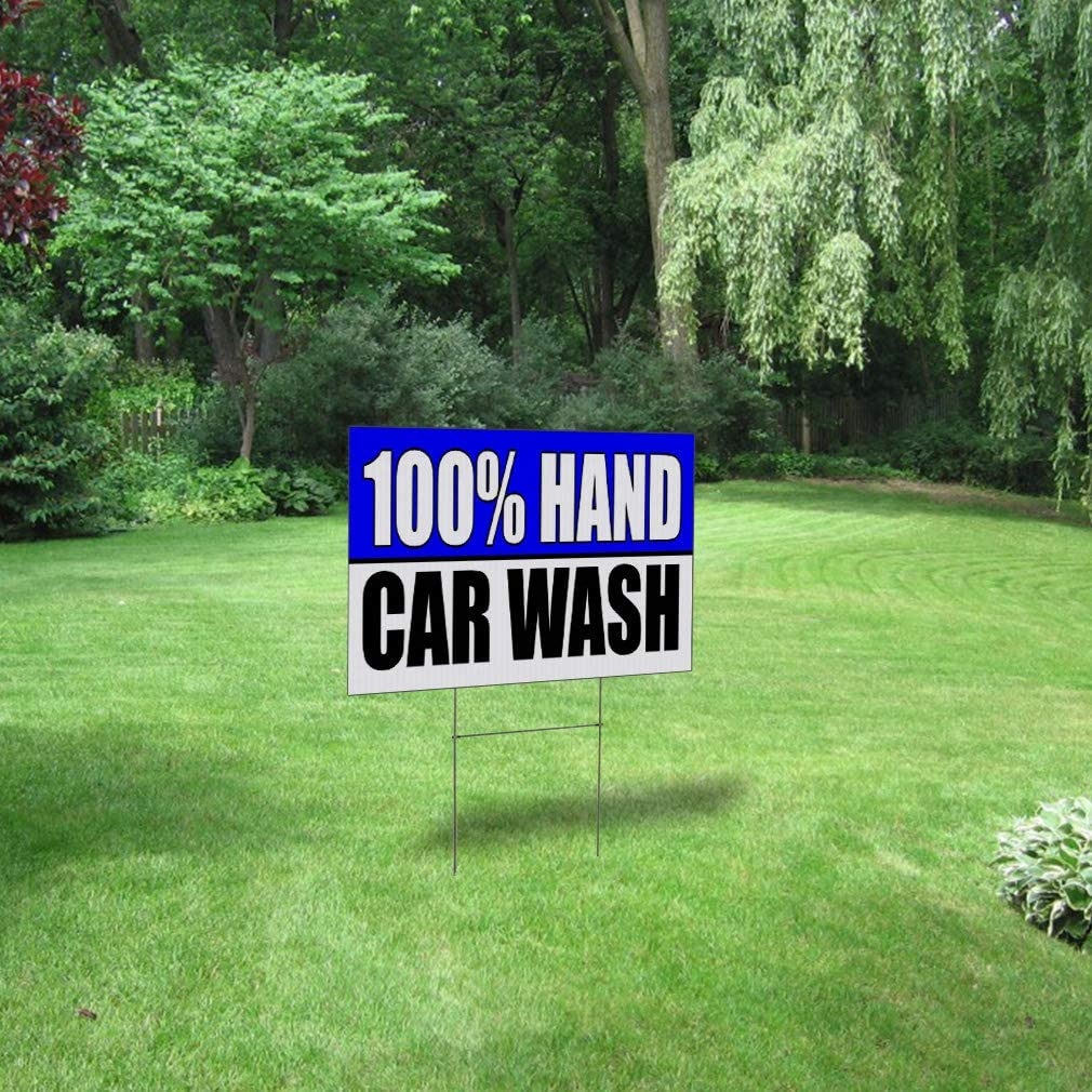 Car Wash Auto Body Shop Car Repair Corrugated Plastic Yard Sign //FREE Stakes