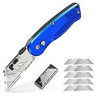 Tdbest Folding Box Cutter Utility Knife