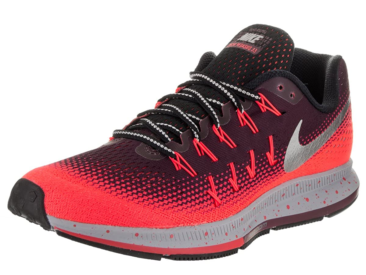 46298d74ae7 Nike Men s Air Zoom Pegasus 33 Shield Night Mardon Metallic Silver Running  Shoe 13 Men US  Buy Online at Low Prices in India - Amazon.in