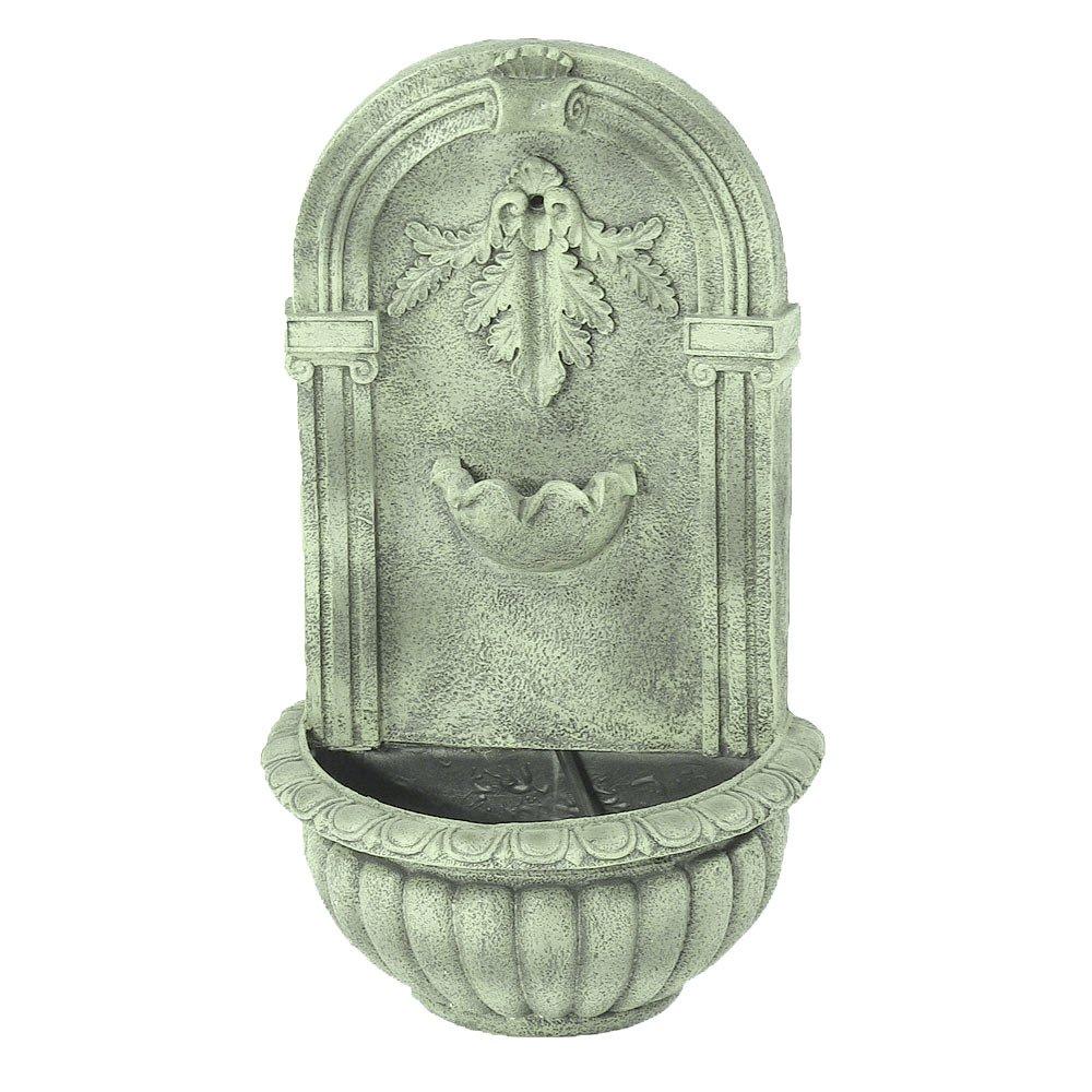Amazon.com : Sunnydaze Florence Outdoor Wall Fountain, French Limestone  Finish, 27 Inch Tall : Wall Mounted Garden Fountains : Garden U0026 Outdoor
