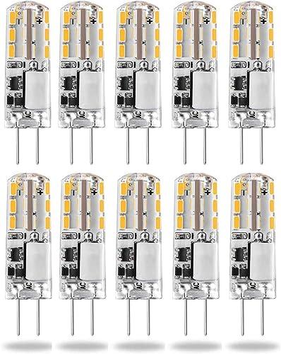G4 LED Light Bulb 2W AC//DC 12V Warm White 2700K G4 Bi-Pin Base Lamp 10W 15W 20W