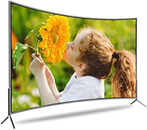 PHGo Hd Tv, Curved Screen Tv Ultra-Definition 4k LCD Television Ultra-Thin Widescreen Hd Tv (32/50/55) Inch