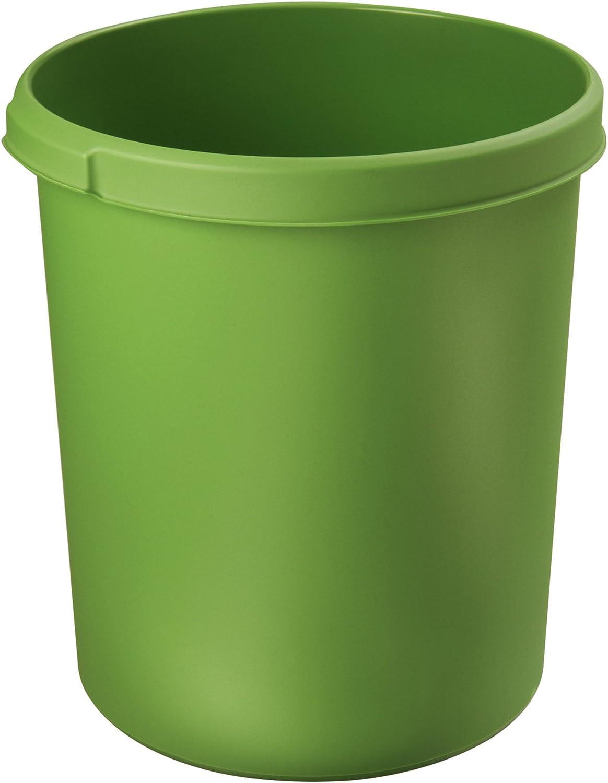 acabado brillante, 13 L color verde Papelera redonda HAN i-Line