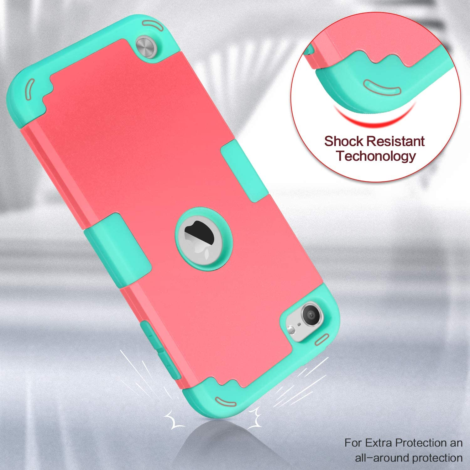 Black+Blue Silicone Shockproof for Kids Heavy Duty Hard Case Cover for 2019 iPod Touch 7th//6th//5th Gen IDweel 3 in 1 Hard PC Case iPod 6 /& 5 Case iPod Touch Case with 2 Screen Protectors