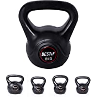 BESTIF Kettlebell, 8 kg, 10 kg, 12 kg, 16 kg, vinyl kogelhalter, krachttraining, vlieghalter, kogelgewicht, handgewicht