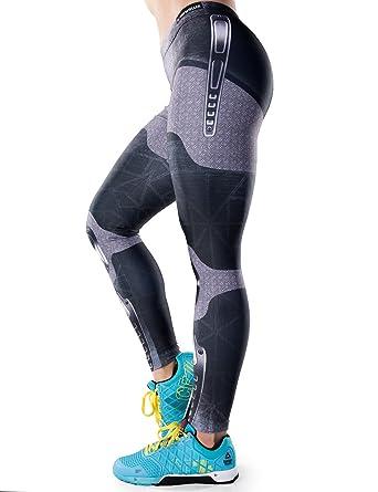 6facc506d381 Bombsheller Badass Workout Leggings at Amazon Women s Clothing store
