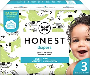 The Honest Company The Honest Company Club Box Diapers with Trueabsorb Technology, L8ter Gator, Size 3, 68 Count
