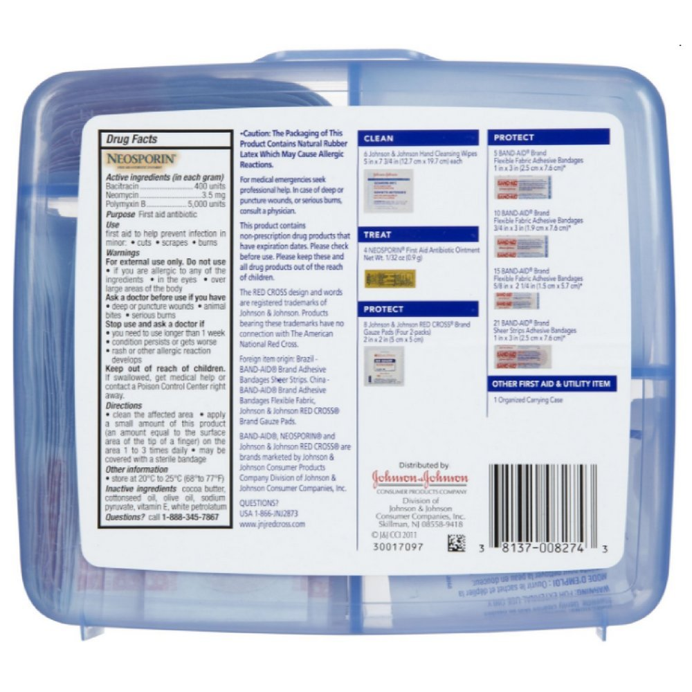 JOHNSON & JOHNSON First Aid Kit Safe Travels 1 Each ( Pack of 11)